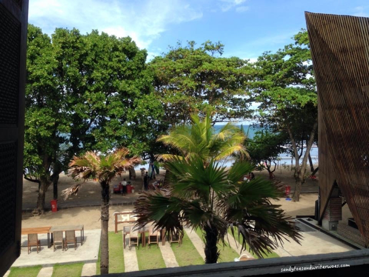 View from the hotel in Bali